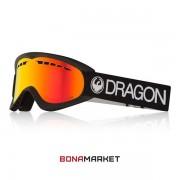 Dragon маска DX Black lumalens red ion