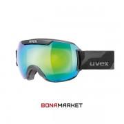 Uvex маска Downhill 2000 FM black matt-green mirror