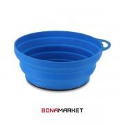 Lifeventure тарелка Silicone Ellipse Bowl blue