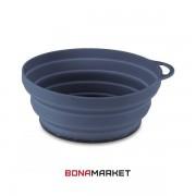 Lifeventure тарелка Silicone Ellipse Bowl graphite