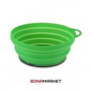 Lifeventure тарелка Silicone Ellipse Bowl green