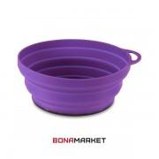 Lifeventure тарелка Silicone Ellipse Bowl purple