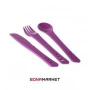 Lifeventure вилка, ложка, нож Ellipse purple
