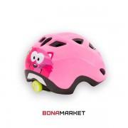 Met шлем Genio pink cat UNI