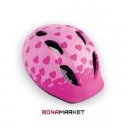 Met шлем Super Buddy pink hearts, размер 52-57